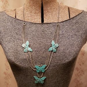 AUTHENTIC LUCKY BRAND BUTTERFLY NECKLACE
